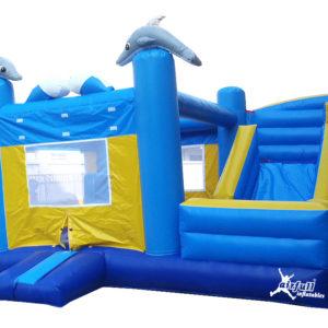 Combo Bouncer Inflatable Dolfins
