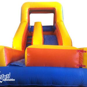 Economic inflatable slide