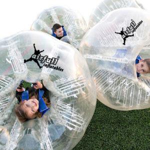 Kids bubble soccer