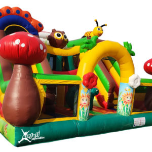 Mushrooms inflatable slide