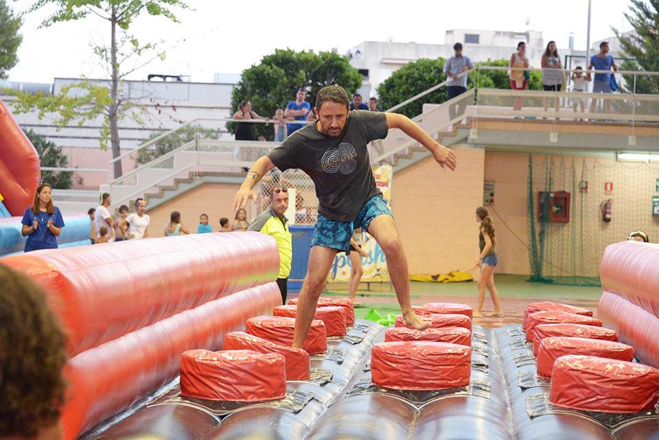 Inflatable Wipeout Hamburger