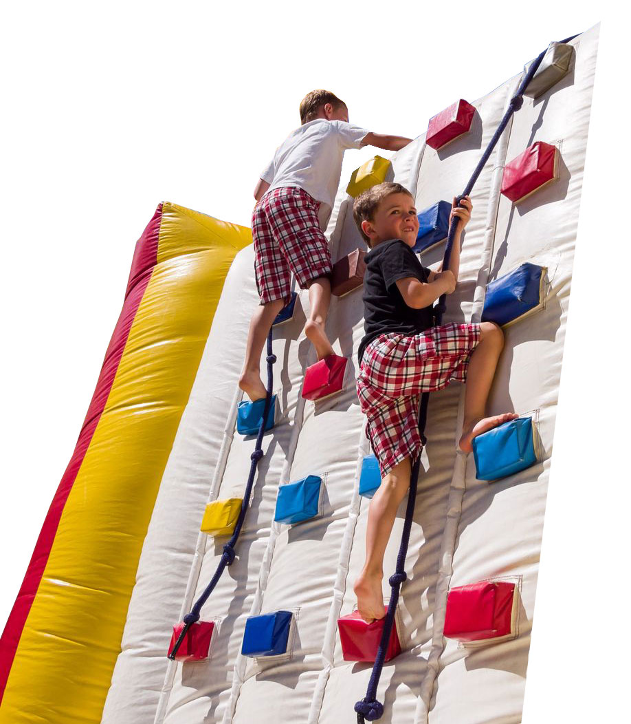 Kids climbing the inflatable