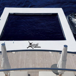 inflatable pool and dock for boats and yachts